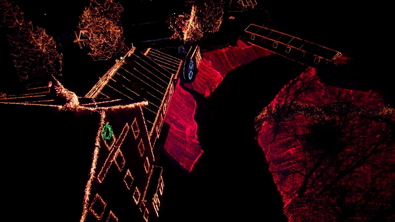 Clifton Mill Christmas Lights.Christmas Lights At Clifton Mill Drone Footage