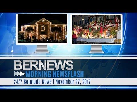 Bernews Morning Newsflash For Monday November 27, 2017