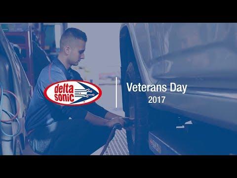 Veterans Day 2017 at Delta Sonic