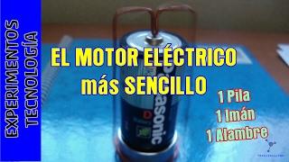 Experimentos Caseros. Motor electrico su...