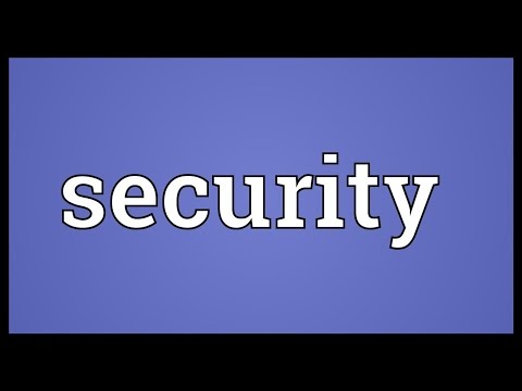 security-meaning