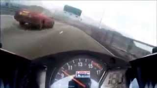 Motor racing bike 260 km/h escape from police.