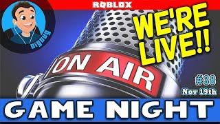 Joignez-vous à nous Nous jouons Roblox Live! DigDugPlays Game Night Live : Ep 38