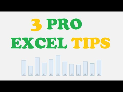 3 Pro Excel Tips