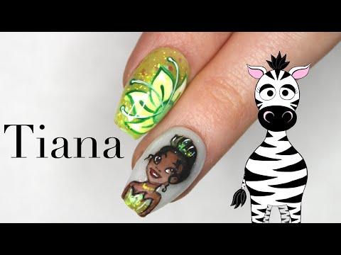 3D Tiana Acrylic Nail Art Tutorial | Disney Princess Series thumbnail