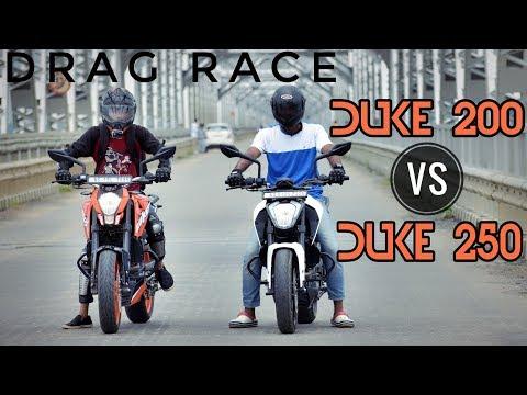 Duke 250 VS Duke 200 | DRAG RACE | Highway Run