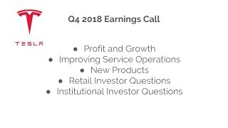 Tesla Q4 2018 Earnings: Elon addresses my question and other retail shareholders'