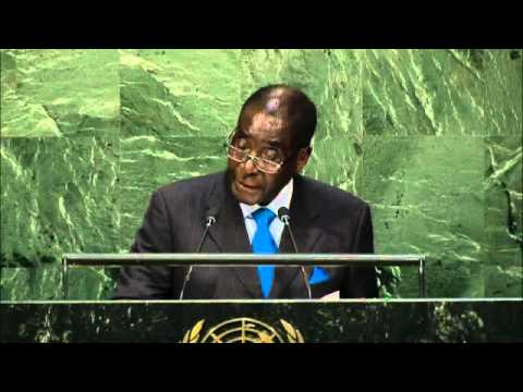 Zimbabwe's Robert Mugabe addresses UN General Assembly