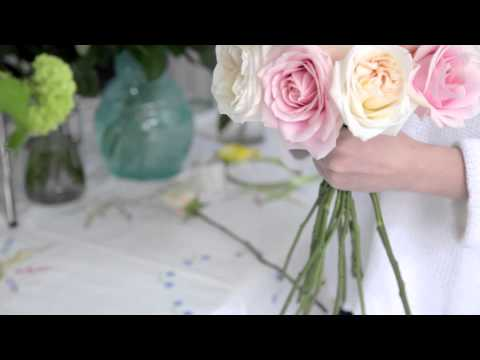How to make a Rose Hand - tied Bridal Bouquet