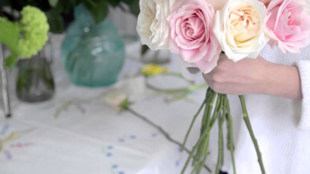 How to make a rose hand tied bridal bouquet youtube youtube premium izmirmasajfo