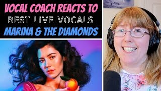 Vocal Coach Reacts to Marina & the Diamonds Best LIVE Vocals