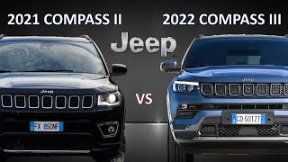 All-New 2022 Jeep Compass III vs 2021 Jeep Compass II | See the difference