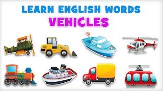 Vehicles   Pre School   Learn English Words Spelling Video For Kids
