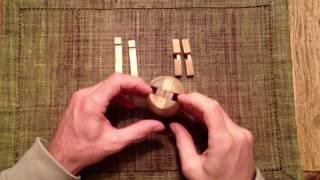 Solution Wooden Barrel Puzzle / Zusammenbau des Holztonnenpuzzles