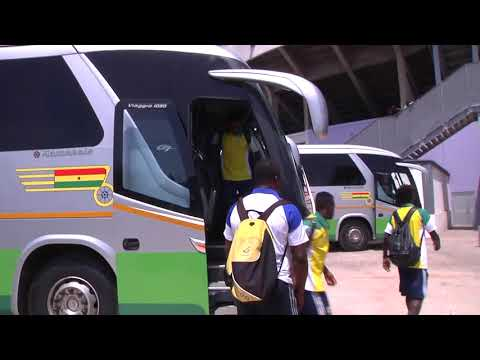 Gabon U23 Arrival to the Accra sports stadium for game against Ghana
