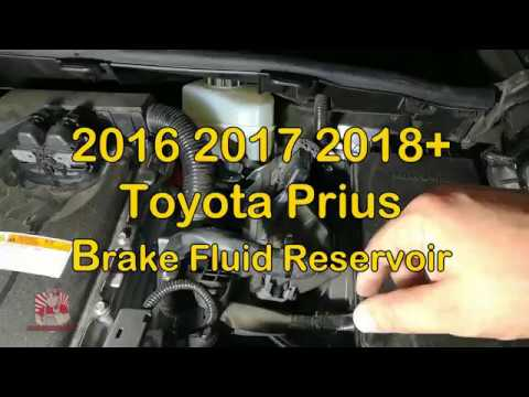 Toyota Prius Brake Fluid Reservoir Location 2016 2017 2018 Step By Direction For