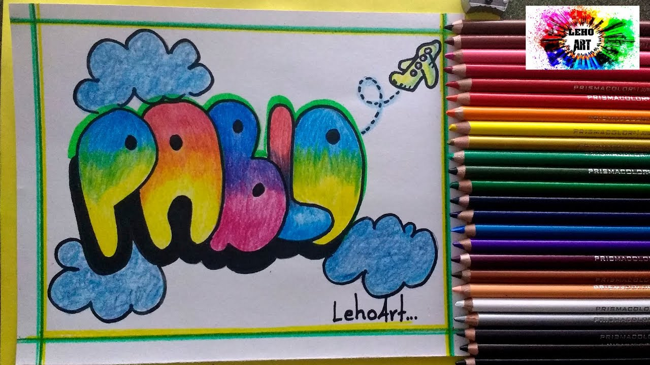 Graffiti De Dibujos Animados A Lapiz