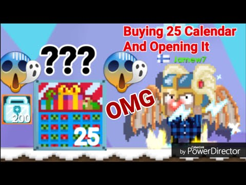 Buying 25 Calendar! + Opening OMG ( WHAT DID I GOT? ) - Growtopia