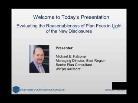 Evaluating the Reasonableness of Plan Fees in Light of the New Disclosures
