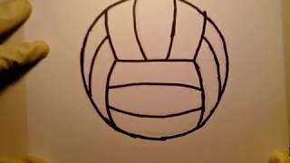 How To Draw A Volleyball Easily como dibujar una pelota de voleibol net player Goal