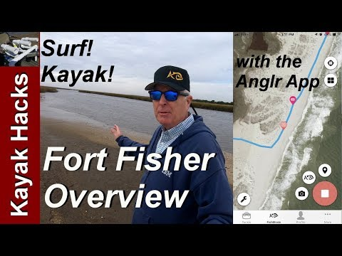 Fort Fisher Fishing - Surf And Kayak Overview With The ANGLR App