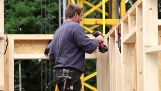 Timelapse houtskeletbouw nieuwe villa in Loo bij Westervoort regio Arnhem