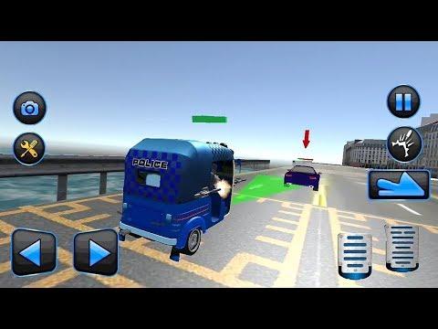 Police Tuk Tuk Auto Rickshaw Game || Tuk Tuk Auto Rickshaw Game || Rickshaw Chasing Game