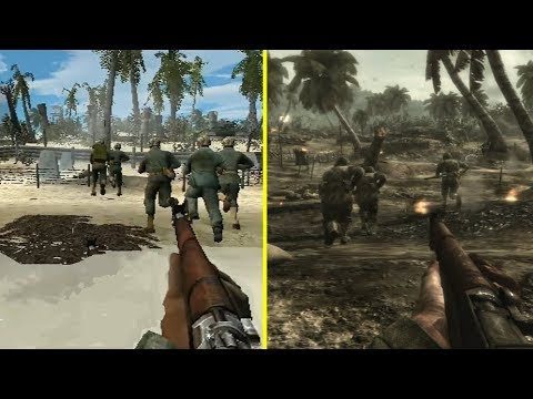 Call Of Duty World At War PS2 Vs PS3 Graphics Comparison