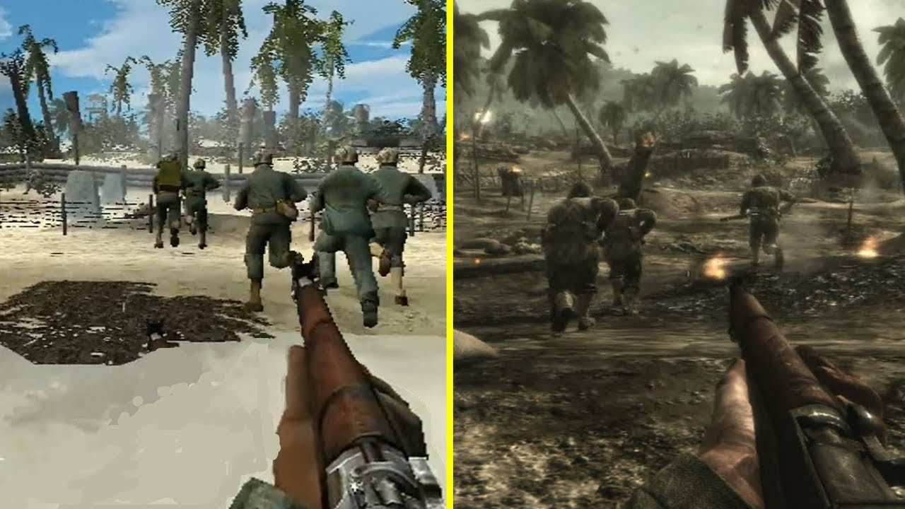 Call of Duty World at War PS2 vs PS3 Graphics Comparison - YouTube