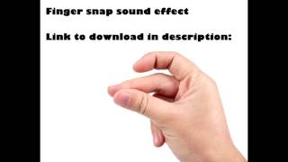 Finger Snaps sound effect