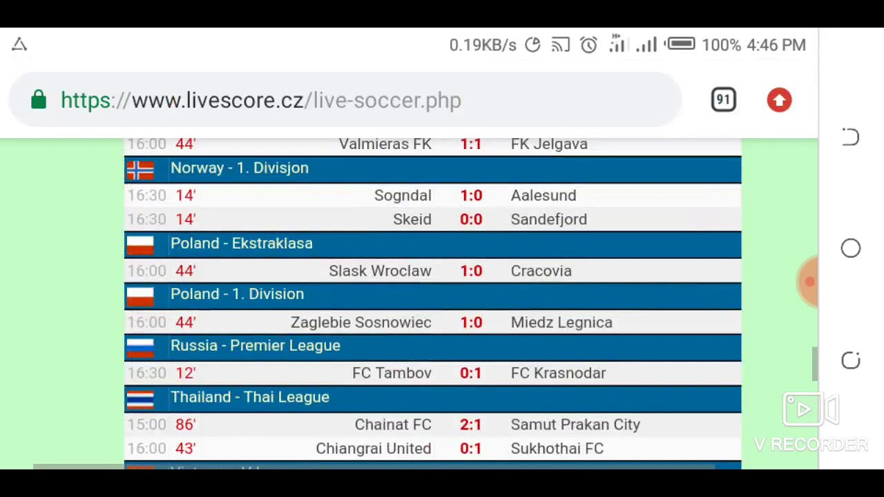Todays Livescore Football Results Just Now Live Official Hd Video 2019