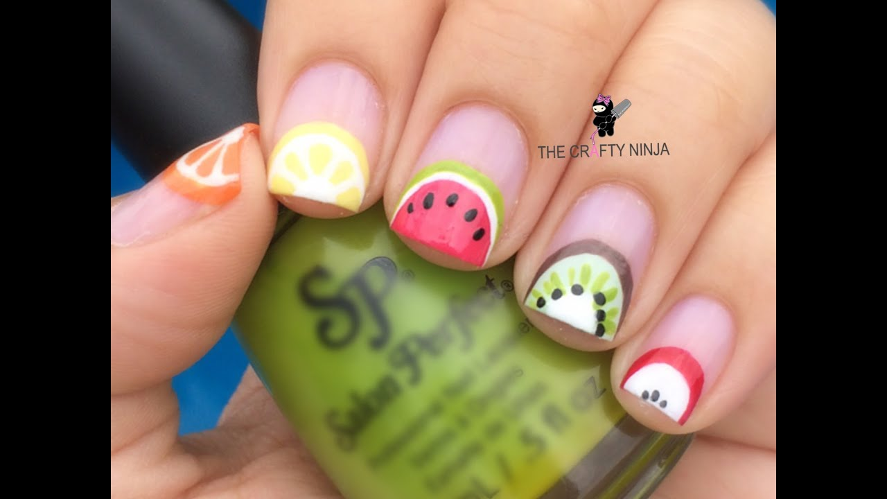 Fruit Slices Nail Art by The Crafty Ninja - YouTube