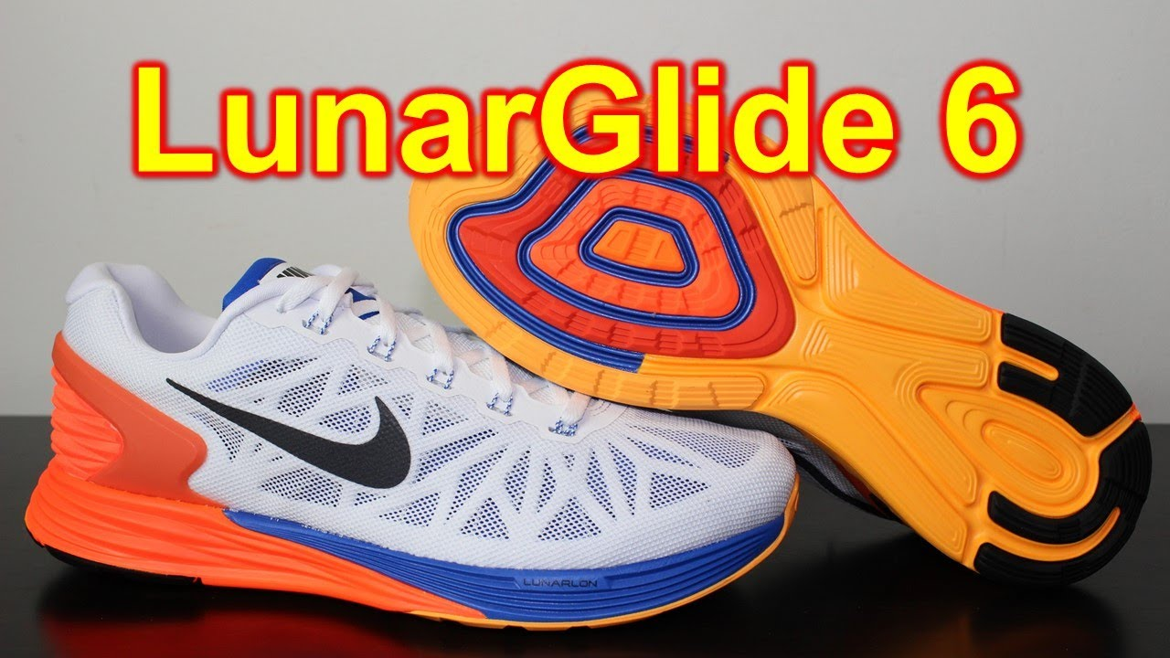 big sale dea8c 83f9d Nike Lunarglide 6 White Hyper Crimson Hyper Cobalt - Review + On Feet -  YouTube