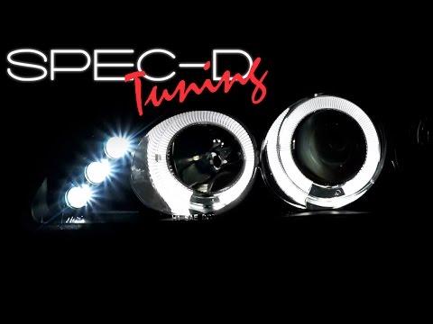 SPECDTUNING DEMO VIDEO: 1992-1995 HONDA CIVIC LED PROJECTOR HEADLIGHTS