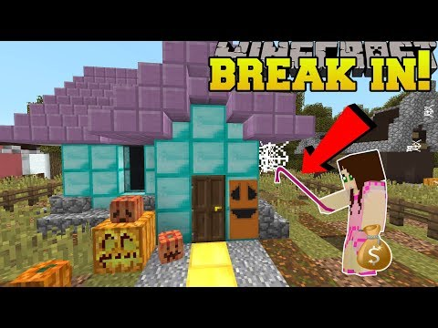 Minecraft: BREAKING INTO A HOUSE!!! - Trick Or Treat - Custom Map