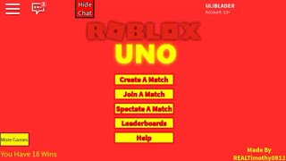 Playing 'Roblox Uno' on Roblox with 2 friends, Longest match EVER XD