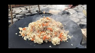 Плов Узбекский классический, из круглого риса, рецепт от Рината