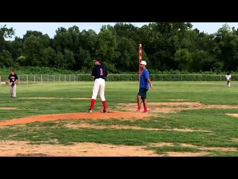 2017 Strayhorn High School Summer Baseball RJ Smith on the Bump.