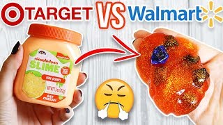 TARGET SLIME VS WALMART SLIME! Which is Worth it?!?