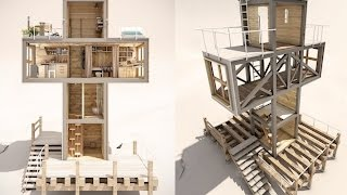 Dachi Papuashvili's Cross-Shaped Micro Home Could Offer Solar-Powered Salvation
