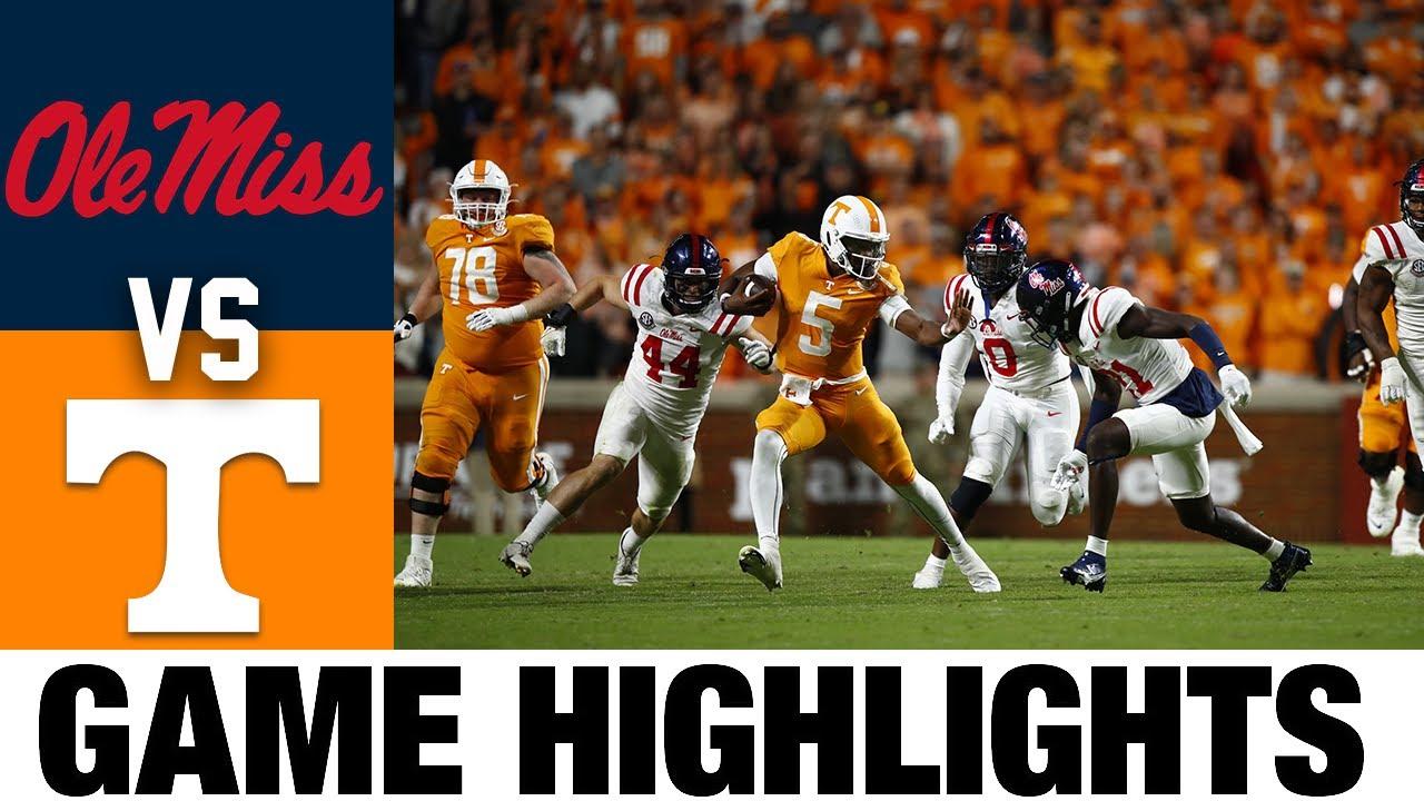 #13 Ole Miss vs Tennessee   Week 7   2021 College Football