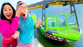 SURPRISING MY CRUSH WITH HIS DREAM BOAT!!