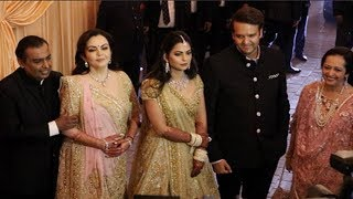 Isha Ambani, Anand Piramal & Ambani Family GRAND ENTRY At WEDDING Reception In Mumbai
