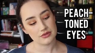 Peach-toned Spring Eyes | Tutorial Feat. Makeup Geek