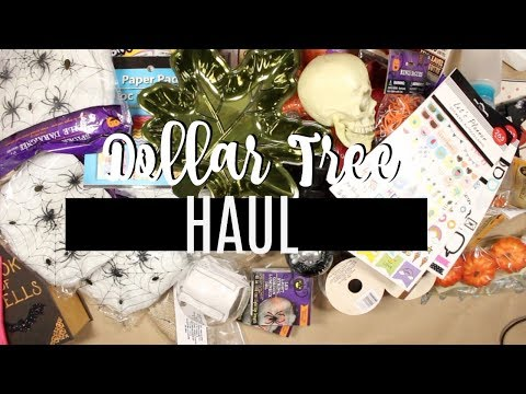 DOLLAR TREE HAUL | HALLOWEEN FINDS + PLANNER STICKERS