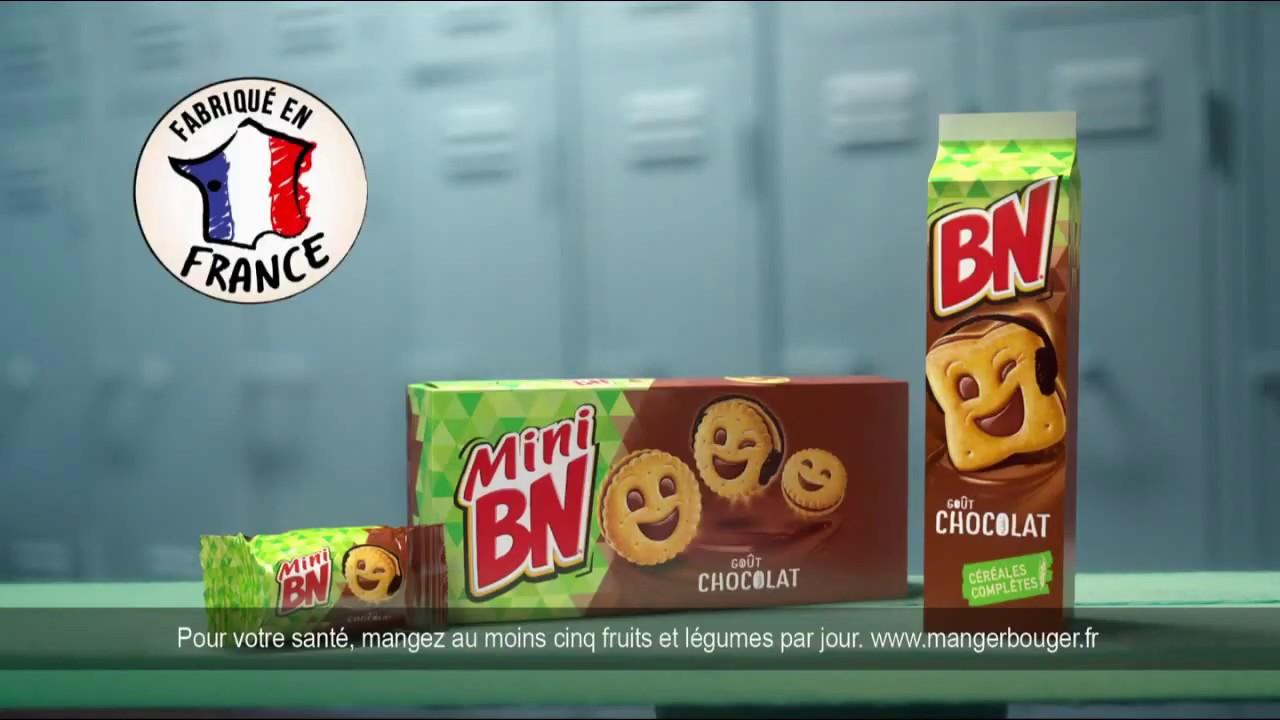 """BN & Mini BN goût chocolat """"c'est trop bon de partager"""" Pub 20s"""