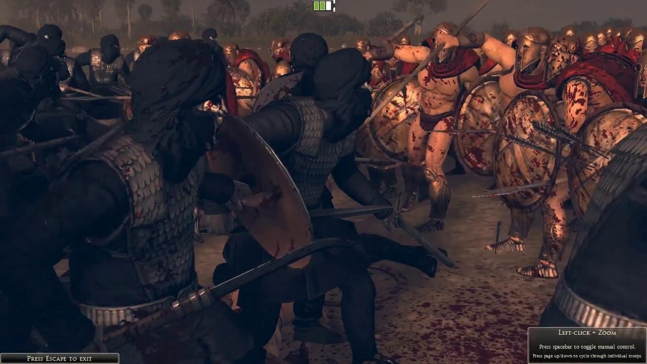 Total War Rome II 300 Spartans vs Immortals  YouTube