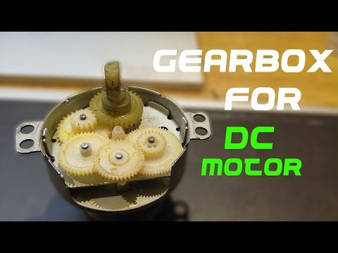 How To Make DC Motor Gearbox - DIY - HIGH to LOW RPM - YouTube