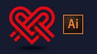 Adobe illustrator CC рисуем логотип в векторе | Logo Tutorial
