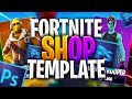 [FREE] FORTNITE SHOP TEMPLATE   PHOTOSHOP PACK